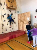 "5th grade ""rocks"" the climbing wall"