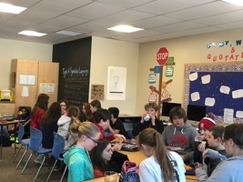 Middle School Enjoying Lunch and Games